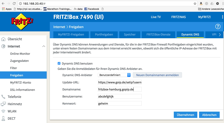 Dynamic DNS in der FRITZBox einrichten   Stübis Blog